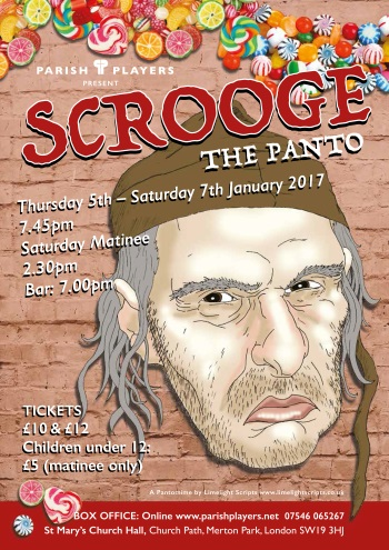 Scrooge the Panto poster